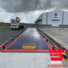 Cân ô tô điện tử 80 tấn 3x18m lắp tại CÀ MAU