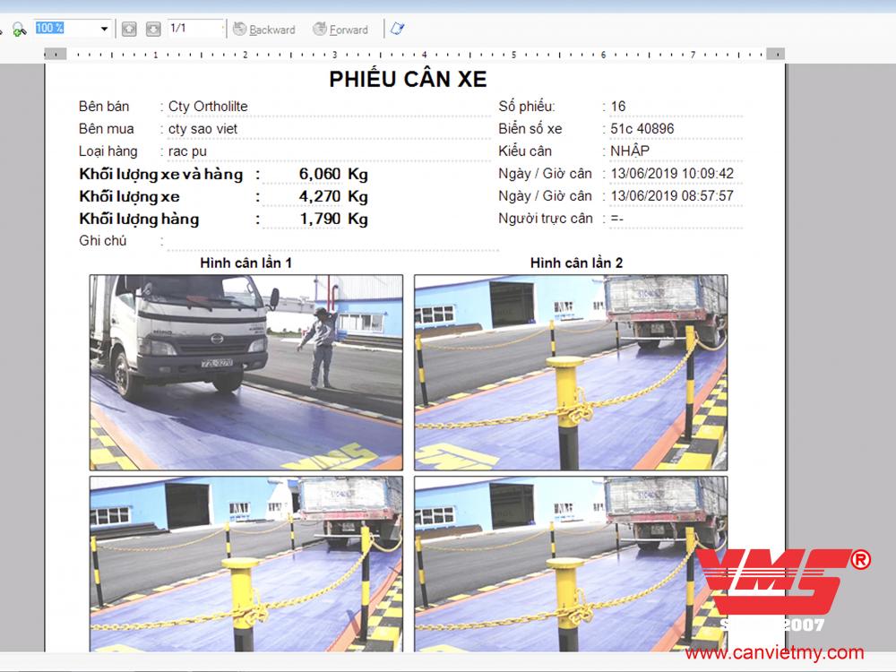 Chương trình cân tích hợp camera giám sát