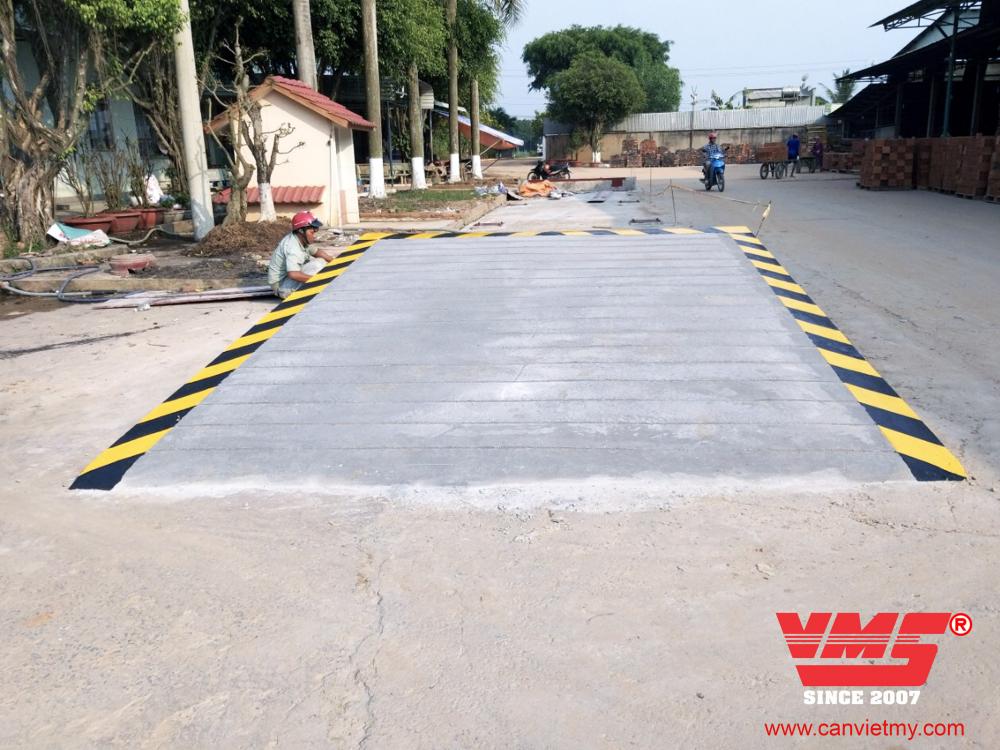 Trạm cân 80 Tấn 3x18m lắp tại Tây Ninh