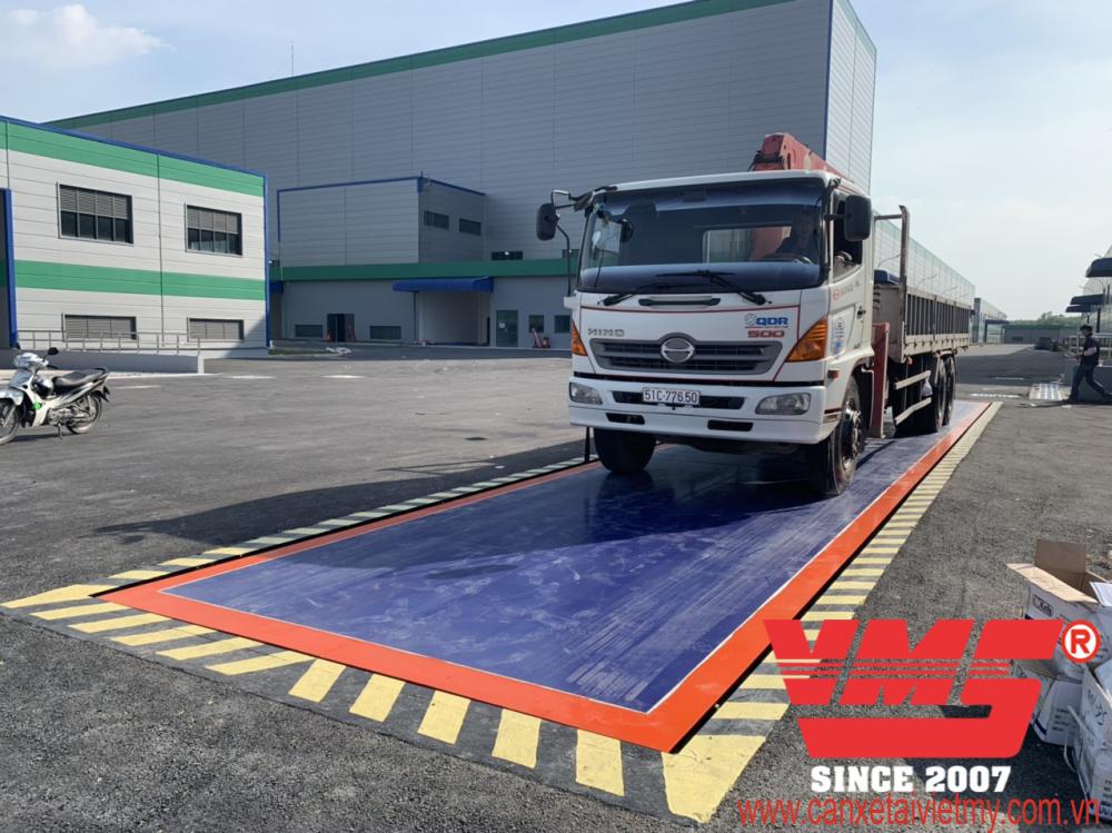 Trạm cân ô tô 100 tấn 3x18m lắp tại Đồng Nai