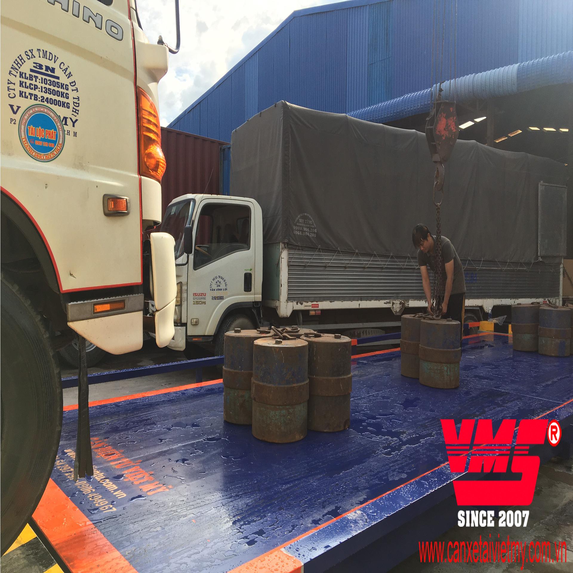 Cân xe tải điện tử 60 tấn 3x12m